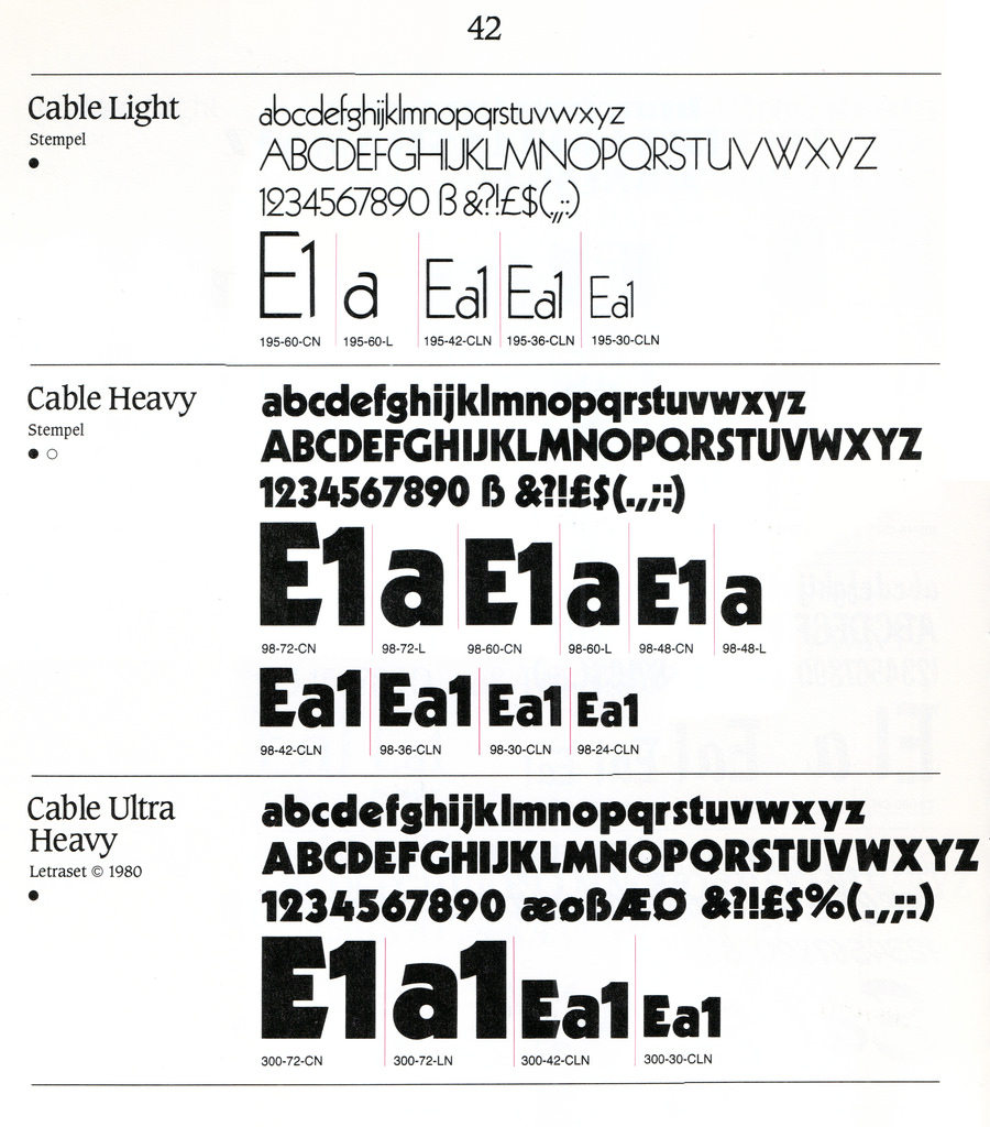 Letraset Cable