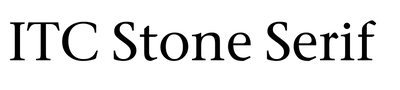ITC Stone Serif