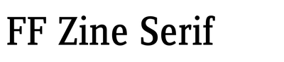 FF Zine Serif