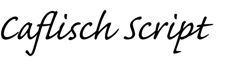 Caflisch Script
