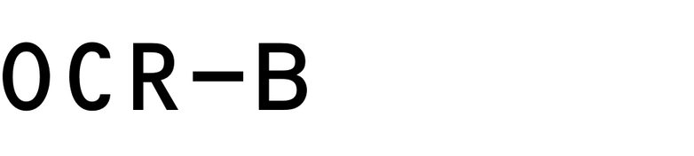 OCR-B