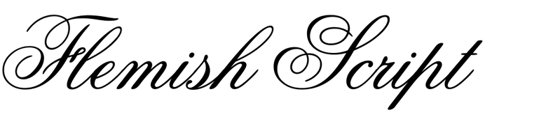Flemish Script