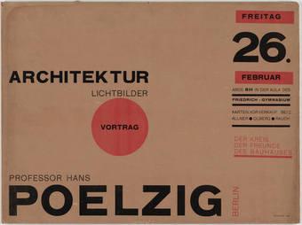 Poelzig Announcement by Herbert Bayer