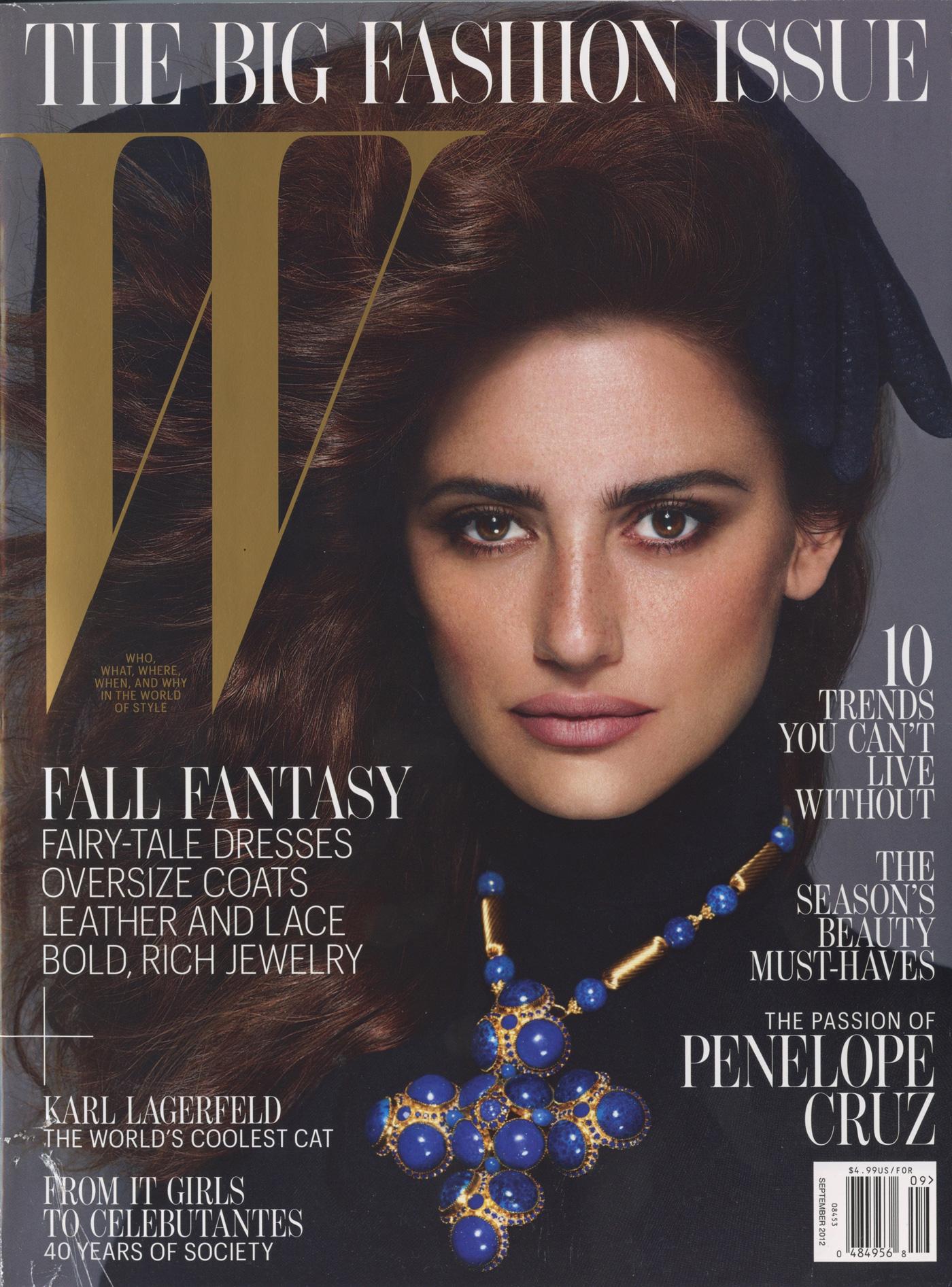W Magazine, Sept. 2012 - cover