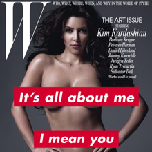 Barbara Kruger & Kim Kardashian on <cite>W</cite>