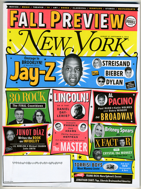 <cite>New York</cite> Magazine, Aug–Sep 2012