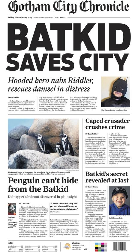 <cite>Gotham City Chronicle</cite>