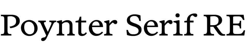 Poynter Serif RE