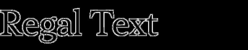 PF Regal Text