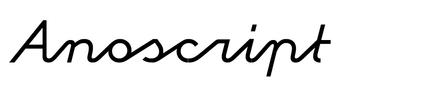Anoscript