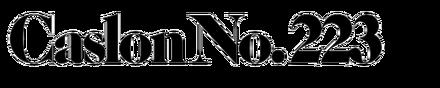 ITC/LSC Caslon No. 223