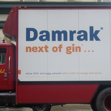 Damrak Gin Truck Ad