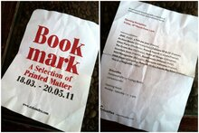 """Bookmark"" – A Selection of Printed Matter"