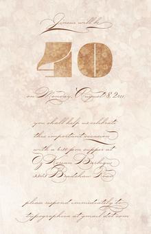 40th Birthday Invite