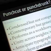 Qualcomm Sans Presentation, TypeCon 2006