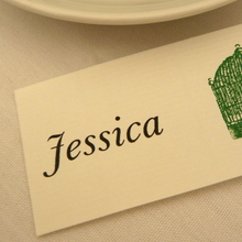 Wedding Place Cards and Menu
