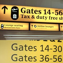 Heathrow Airport Signage