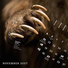 FontShop Calendar, Nov. 2007