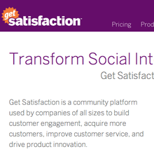 Get Satisfaction website
