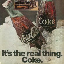 """It's the real thing."" Coca-Cola Ads (1969–74)"