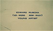 Edward Ruscha's Business Card