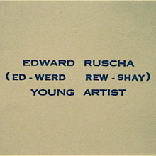 Edward Ruscha's Business Card