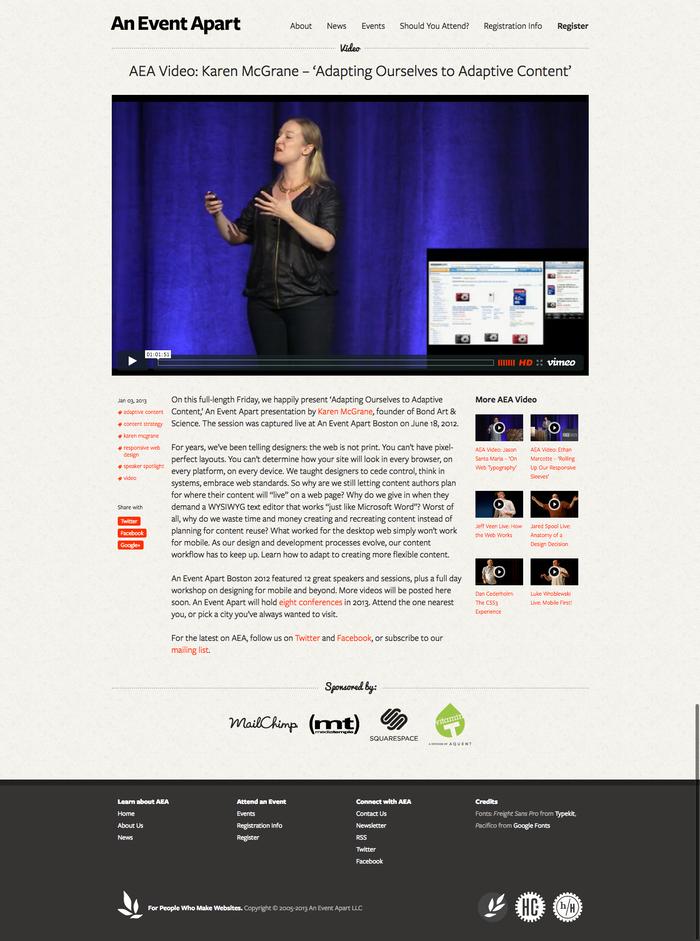 An Event Apart News  AEA Video  Karen McGrane