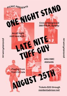 Picnic presents <cite>One Night Stand</cite> feat. Late Nite Tuff Guy at Civic Underground