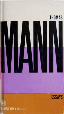 <cite>Thomas Mann Essays</cite>, Vintage Books Edition