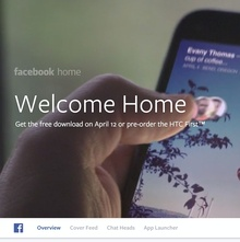 Facebook Home: Website & Product
