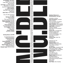 <cite>Achtung: Berlin</cite> Symposium at the Yale School of Architecture