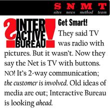 Interactive Bureau Website (1996)