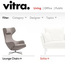 Vitra homepage 2013