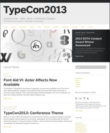 TypeCon2013 <cite>Portl&</cite>, Portland (US) 21–25 August 2013