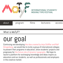 MoTyF – International Students' Moving Type Festival, Warsaw (PL), 27–29 May 2013