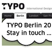 TYPO Berlin 2013 – <cite>Touch</cite>, Berlin (D), 16–18 May 2013