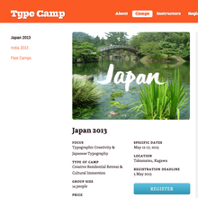 Type Camp Japan, Takamatsu (JP), 12–17 May 2013