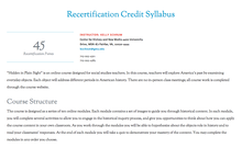 <cite>Hidden in Plain Sight</cite> Online Course Syllabus