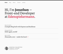 Jonathan Krause personal site