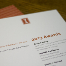 University of Illinois Social and Behavioral Research Council Awards 2013 Program