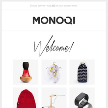 "Monoqi ""Welcome"" email"
