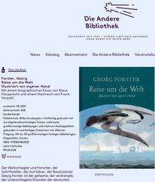 <cite>Die Andere Bibliothek</cite> Website