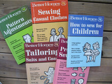 Better Homes and Gardens Creative Sewing Library book covers