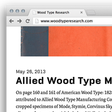 Wood Type Research