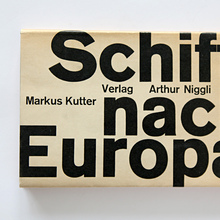 <cite>Schiff nach Europa</cite> (Ship to Europe) by Markus Kutter