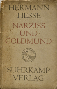 <cite>Narziß und Goldmund</cite> (Narcissus and Goldmund) by Hermann Hesse, Suhrkamp 1948 Edition
