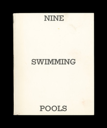 <cite>Nine Swimming Pools and a Broken Glass</cite> by Edward Ruscha, 1968.