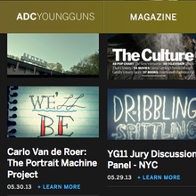 ADC Young Guns Website