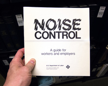 <cite>Noise Control –A guide for workers and employers</cite>
