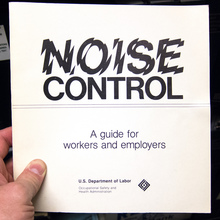 <cite>Noise Control – A guide for workers and employers</cite>